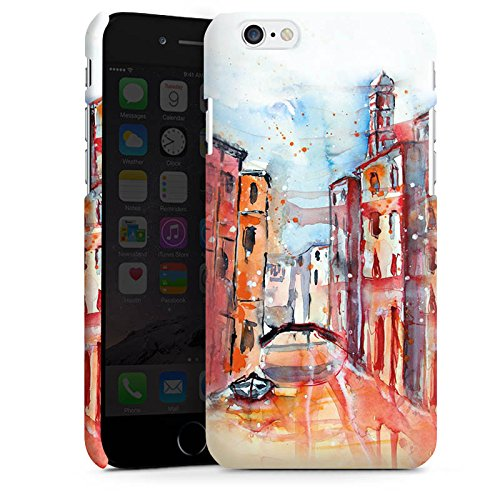 Apple iPhone X Silikon Hülle Case Schutzhülle Venice Venedig Gemälde Premium Case matt