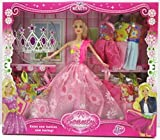 #6: Saffire Cute Doll with Style Wardrobe Fashionable Accessories Clothes,Crown for Baby Girls