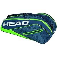 Head Tour Team 6r - Bolsa para Raqueta de Tenis, Color Azul Marino y Verde, tamaño Talla única