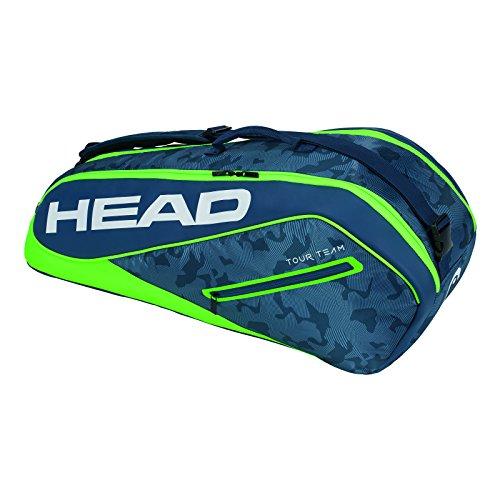 HEAD Tour Team 6r Combi Tennisschlägertasche, Unisex, 283128NVGE, Marineblau/grün, Einheitsgröße
