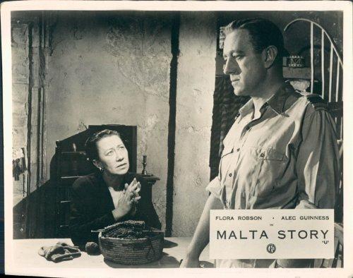 Malta Story Flora Robson Alec Guinness original British Aushangfoto