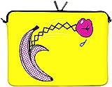 Digittrade LS170-11 Surprise Designer Netbook Case 11,6 Zoll (29,5 cm) passend für Tablet 11 bis 12 3 Zoll Neopren Schutz-Hülle Tasche Sleeve Cover gelb-pink