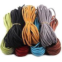 Candygirl 7 Piezas 3 mm de Cordón de Ante Falso 7 colores Cuerda de Cuero para bricolaje Pulsera Abalorios Fabricación de Bisutería