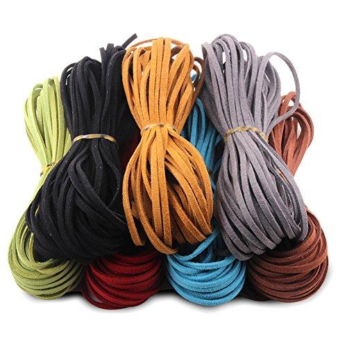 Joyería artesanal y cuentas Cordón redondo de nylon abalorios Arco Iris De Varios Colores Para Joyería 1 mm 1.5 mm 2 mm