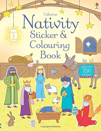 Nativity. Sticker And Colouring Book (Usborne Sticker and Colouring Books)