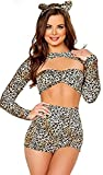 Harrowandsmith sexy Cheetah Cat Costume Animal Déguisement de luxe Imprimé léopard Charmant guépard sexy Vêtements de soirée Halloween déguisement, Hst8727, UK 8-10