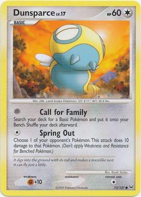 Pokemon - Dunsparce (73) - Platinum (Pokemon Dunsparce)
