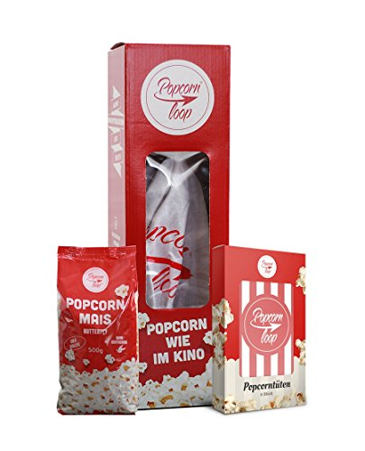 Preisvergleich Produktbild Original Popcornloop Starter Set Besteht Aus: Popcornloop,  500g Mais,  6 Popcorntüten Heimkinoset Auspacken,  Loslegen