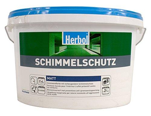 Herbol Schimmelschutz 12,5 Liter weiß Wandfarbe mit Anti Schimmel Effekt für innen