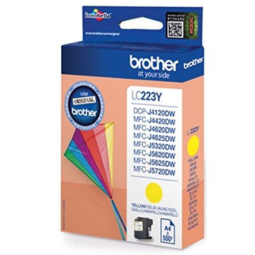 Preisvergleich Produktbild 1x Original Brother Tintenpatrone LC 223 LC223 LC-223 - Yellow - für MFC J 5320 DW - Leistung: ca. 550 Seiten bei 5% Seitenabdeckung