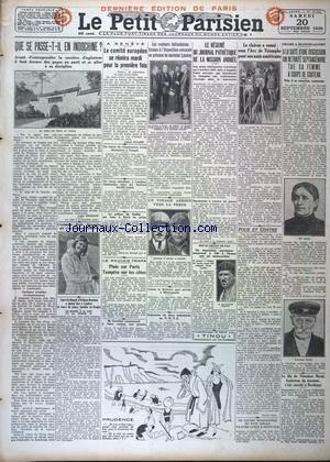 PETIT PARISIEN DERNIERE EDITION DE PARIS 5 HEURES (LE) [No 19562] du 20/09/1930