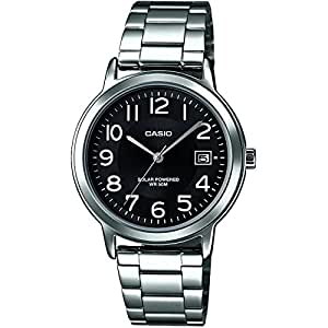 Casio Collection Mens Stainless Steel Date Solar Power Watch MTP-S100PD-1BVER