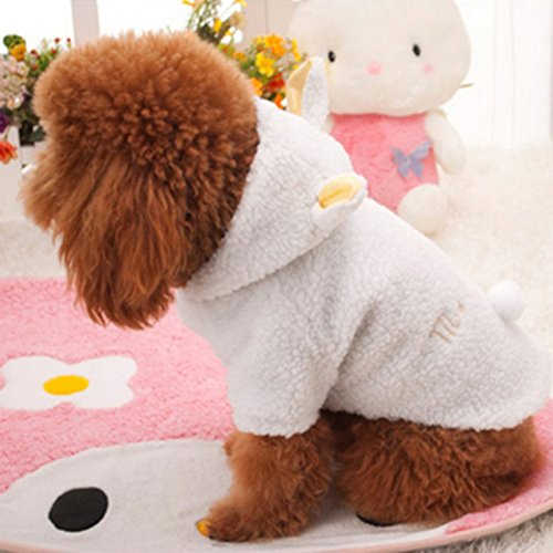Greatlizard Pet Dog Cat Sweater Puppy T shirt (XL, Bianco)