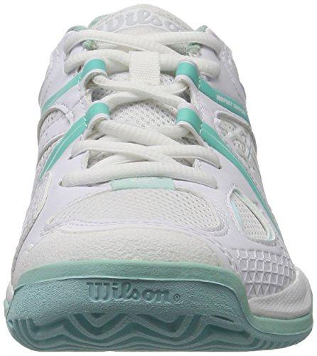 Wilson - Nvision W, Scarpe da tennis Donna Bianco (White/aruba Blue/mint Ice Wil)