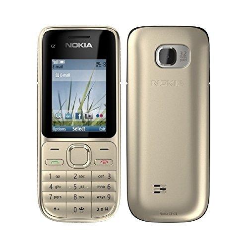 Nokia C2-01 Warm Silver Silber Handy (ohne Simlock, ohne Branding)