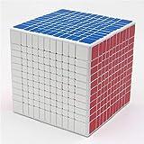 Ysss 11 ° Cubo, Colorido Rompecabezas Cuadrado, Juguetes educativos Especiales para niños de Alta Gama,Blanco
