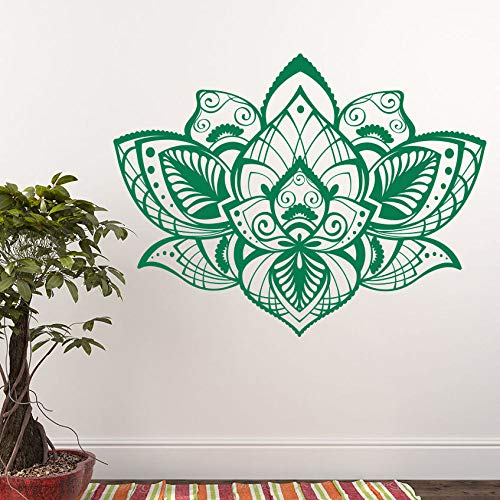Family Decalcomania da muro Lotus Vinyl Wall Sticker Bellissimo design Decorazione della casa Bohemian Mandala Flower Art Murales e adesivi A1 57x75