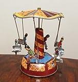 Nostalgie Blechspielzeug Karussell klein mit Kinder