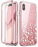 i-Blason Coque iPhone XS Max, Coque Complète Paillette Brillante Bling Bling Glitter...