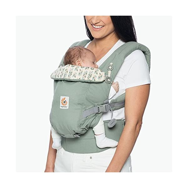 Ergobaby Baby Carrier Collection Adapt (3.2-20 kg), Sage Ergobaby 3 ergonomic wearing positions: on the front, on the back and on the hips Especially easy to use Suitable from birth (3.2 - 20kg) thanks to unique adjustment options 2