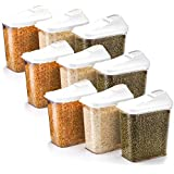 Slings Plastic 750ml Kitchen Container (Transparent) - Pack Of 9