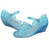 Princess Girls Sparkle Dress up Cosplay Jelly Shoes 11 M US Blue