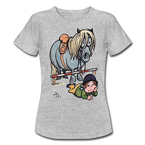 Spreadshirt Thelwell Funny Showjumping Gone Wrong Women's T-Shirt