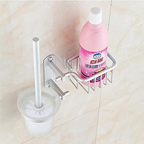 YUPD@Spazio alluminio bagno accessori igienici spazzola multifunzionale carrello