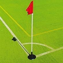 New Football Corner Post Rubber Base Soccer Boundary Marker Flexible Pole Holder