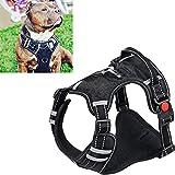 ZHANGZHIYUA Großes Hundegeschirr No Pull Verstellbares Haustier Reflektierende Oxford-Softweste für große Hunde Einfacher Kontrollgurt,L