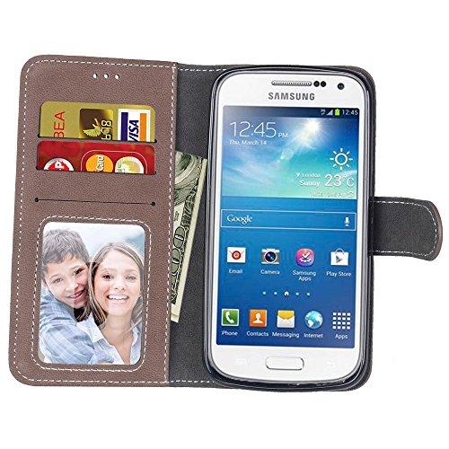 Coque pour Samsung Galaxy S3 i9300, Coffeetreehouse Givré couleur unie Coque/ Housse/ Case/ PU Leather Coque Flip Magnétique Portefeuille Etui Housse de Protection Coque Étui Case Cover avec Stand Sup brun
