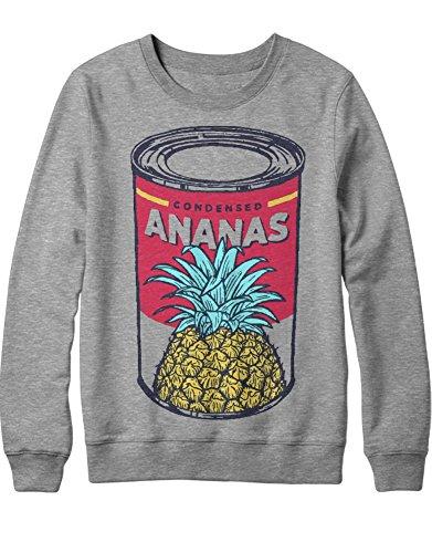Kostüm Express Ananas - Sweatshirt Ananas Pineapple Can Dose Granate Express Hipster H970002 Grau M