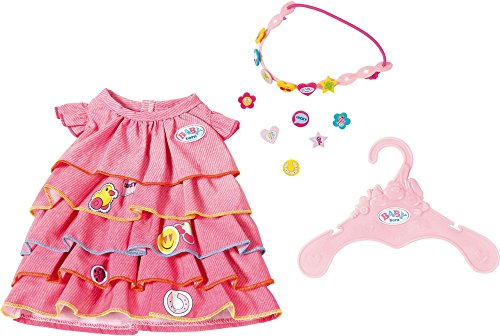 Zapf Creation 824481 Baby Born Sommerkleid Set mit Pins, bunt