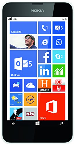 Nokia Lumia 630 - Smartphone libre Windows Phone  pantalla 4 5   c  mara 5 Mp  8 GB  Qualcomm Snapdragon Quad-Core 1 2 GHz  512 MB RAM   negro y blanc