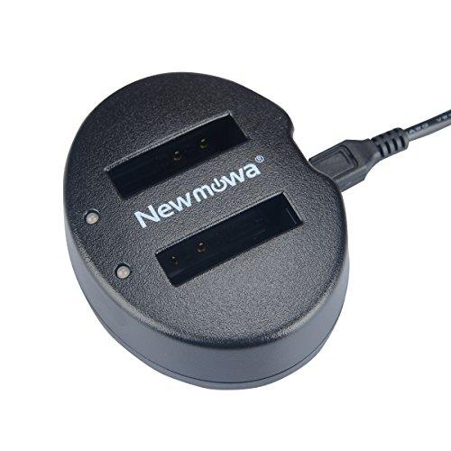 Newmowa USB Cargador Doble para Nikon EN EL12 Nikon Coolpix AW100 AW100s AW110 AW110s AW120 P330 P340 S310 S70 S610 S620 S630 S640 S800c S1000pj S1100pj S1200pj S6000 S6100 S6150 S6200 S6300 S8000