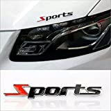 #2: TCOS TECH Racing Sports Sticker Black 3D Chrome Badge Logo Sticker For Car & Bike