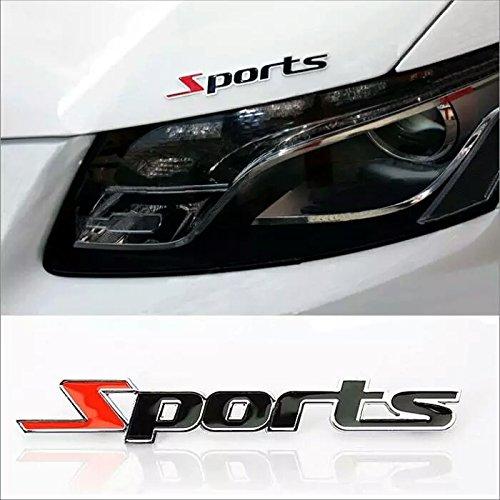 Tcos Tech Racing Sports Sticker Black 3D Chrome Badge Logo Sticker For Car  & Bike