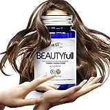 Biotina Capelli Rush - Compresse per crescita dei capelli -integratore per 1 mese di trattamento per donna e uomo- con MSM, Rame e Vitamine.Capelli e unghie + forti. Anticaduta. Antiossidante pelle.