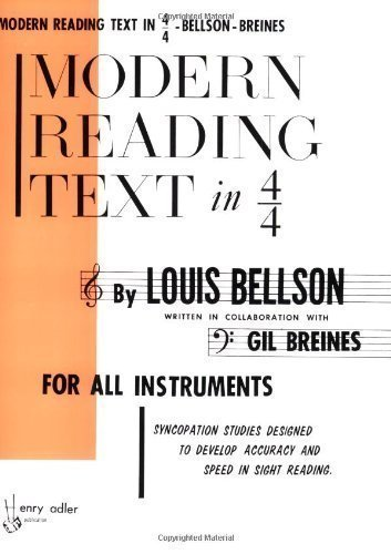 Modern Reading Text in 4/4 For All Instruments by Bellson, Louis published by Alfred Music (1985)