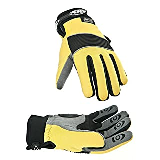Aero Sport® ag90m Hochsichtbare, Windbreaker Handschuhe, Medium, Gelb