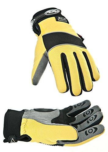 Aero Sport® Aero Sport ag90m Hochsichtbare, Windbreaker Handschuhe, Medium, Gelb