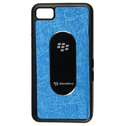 Casotec Metal Back TPU Back Case Cover for Blackberry Z10 - Blue  available at amazon for Rs.149