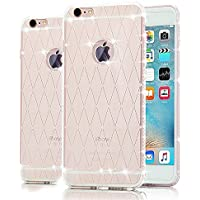 iPhone 5 TPU Custodia,Case Cover per iPhone SE in TPU,Bonice iPhone 5S Glitter Bling Case Cover iPhone 5 5S SE (bianco)