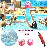 Cherishly Giocattolo Gonfiabile Trasparente di pallanuoto dello Stagno della Spiaggia dell'Acqua Palla Gonfiabile del Beach Ball con Le Piume incorporate per la Spiaggia del Partito della Piscina