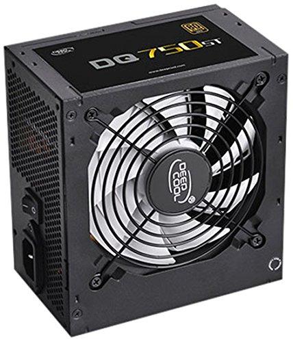 DeepCool DQ750ST unité d'alimentation d'énergie 750 W ATX Noir - Unités d'alimentation d'énergie (750 W, 100-240 V, 47-63 Hz, 5-10 A, Actif, 16 ms)