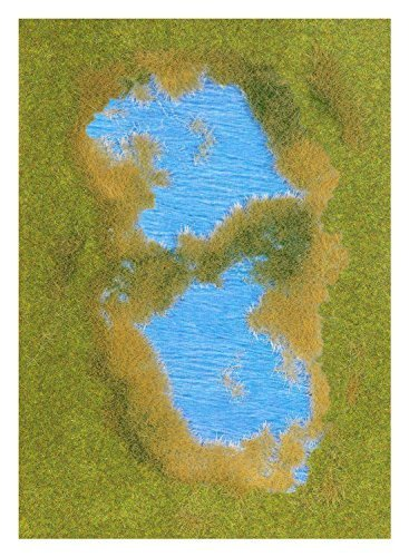 Lake With Grass & Reed Shore - Fibre mat 297x210mm by - Grass Lake