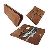 Handy Portemonnaie & Handy Schutzhülle | für Switel Mambo S4018D | Elegant und Vielseiltig, Unisex Geldbörse | P1 Beige Echtleder