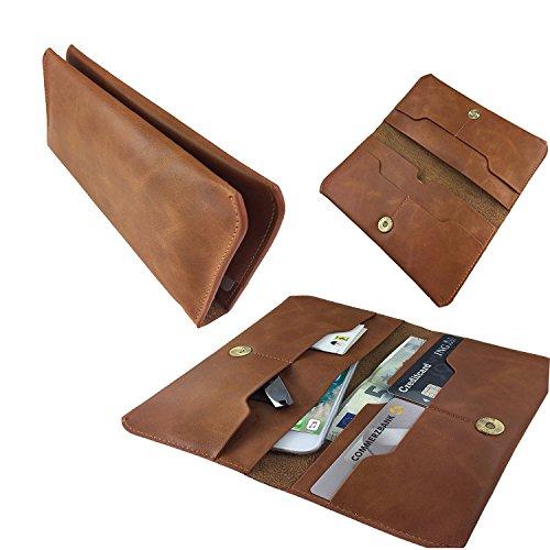 Handy Portemonnaie & Handy Schutzhülle | für SISWOO A4 Chocolate | Elegant und Vielseiltig, Unisex Geldbörse | P1 Beige Echtleder