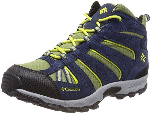 Columbia Jungen Trailrunning-Schuhe, Wasserdicht, Youth North Plains Mid, Blau (Cool Moss, Zour), Größe: 36