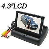 BW 10,9cm Écran couleur TFT voiture Soutien Résolution 960H x 240V + 2canaux d'entrée vidéo + moniteur de voiture rétroviseur Système, Mini Monitor pour voiture/automobile